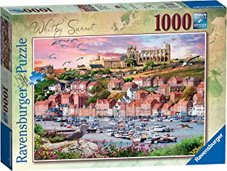 Ravensburger Whitby Sunset 1000 Piece Jigsaw Puzzle for Adults and Kids Age 12 Years Up