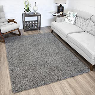 Ottomanson Soft Cozy Color Solid Shag Rug Contemporary Living And Bedroom Shaggy Area Kids