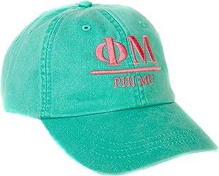Phi Mu (B) Sorority Embroidered Baseball Hat Cap Cursive Name Font