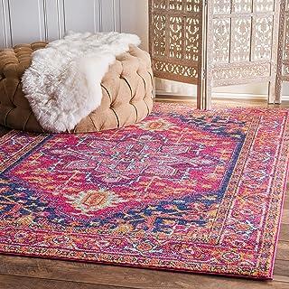 "nuLOOM Vonda Fancy Persian Area Rug, 9` 10"" x 14`, Pink, 0"