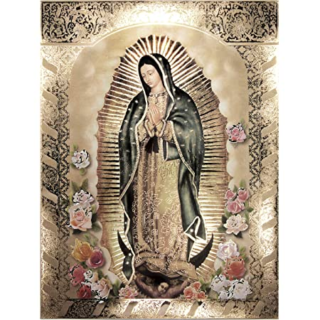 VIRGIN MARY MARIA Lady of Guadalupe POSTER 8X10 GLOW