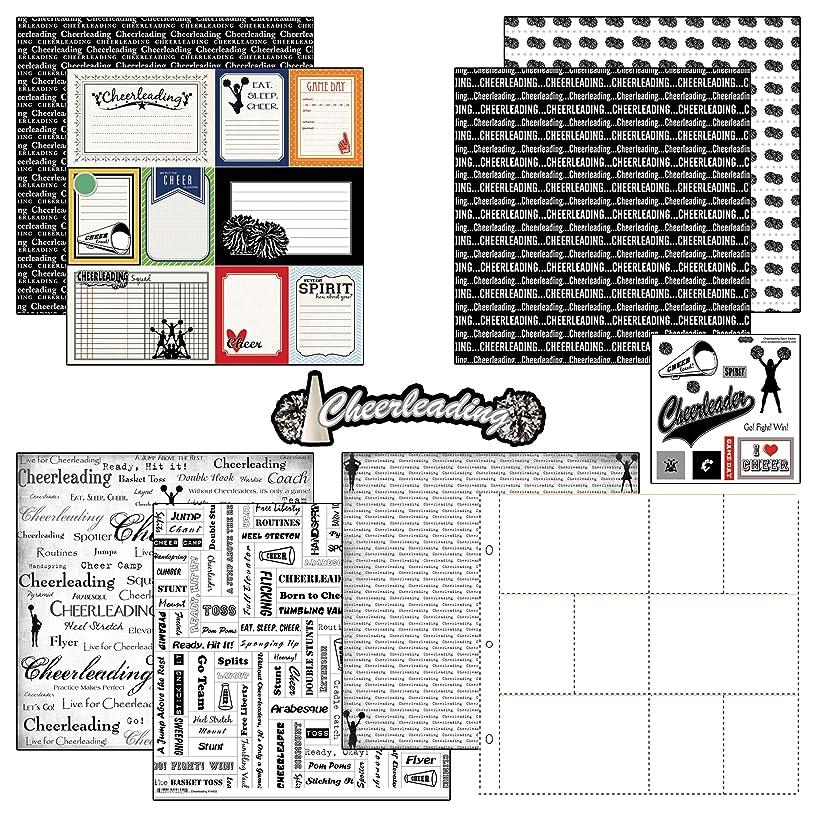 Scrapbook Customs Themed Paper and Stickers Scrapbook Kit, Cheerleading Journal