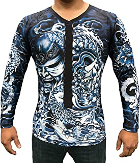 TRI-TITANS Rōnin- Masterless Samurai Long Sleeves Compression Shirt- BJJ Wrestling MMA