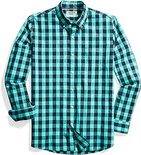 Amazon Brand - Goodthreads Mens Standard-Fit Long-Sleeve Gingham Plaid Poplin Shirt