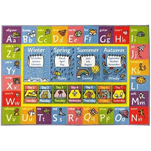 Preschool Abc Rugs For Classroom Amazon Com