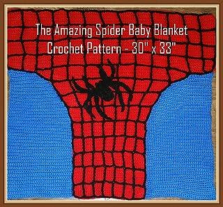 The Amazing Spider Baby Blanket Crochet Pattern