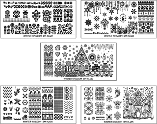 Maniology (formerly bundle monster) 5pc Wintertime Nail Art Polish Stamping Plates - Winter Kingdom