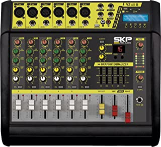 SKP PRO AUDIO VZ-60 II Recording Stereo power Output 200w + 200w @ 4 ohm POWERED MIXER …