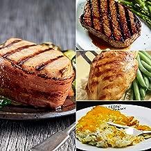 Kansas City Steaks 6 (7 oz) Bacon Wrapped Pork Chops, 4 (6 oz) Top Sirloin, 4 (7 oz) Chicken Breasts and 1 (32 oz) Baked Potato Casserole
