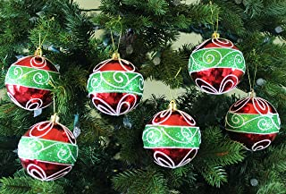 Sleetly Shatterproof Christmas Ornaments, Classic Christmas, 3.15 inches, Set of 12