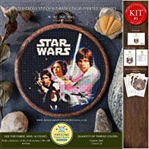Star Wars #K165 Embroidery Cross Stitch Kit | Stars Movie Cross Stitch Patterns | How to Cross Stitch | Needlepoint | Counted Cross Stitch