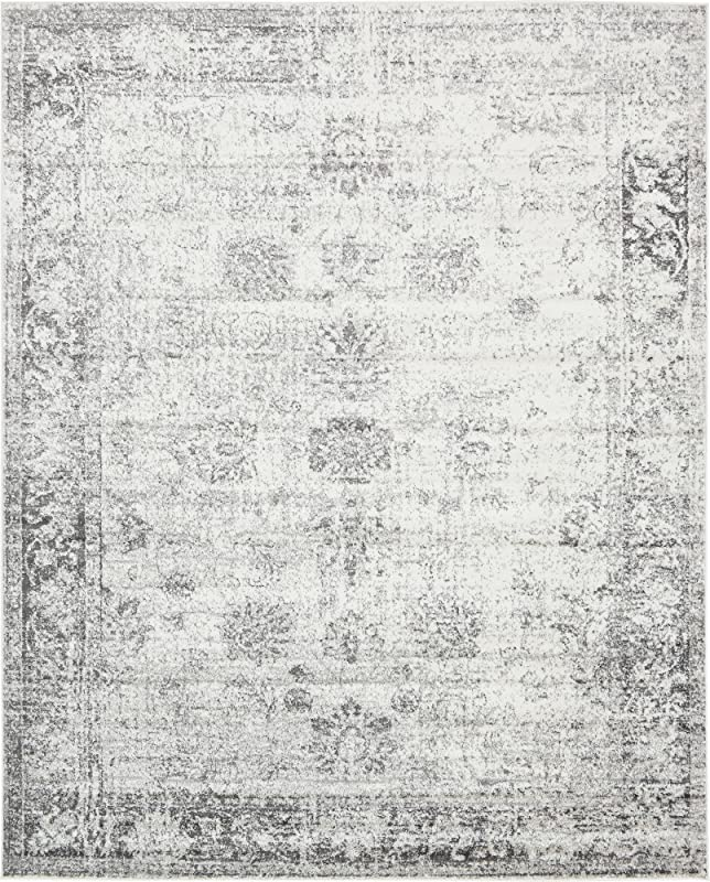 Unique Loom 3134033 Sofia Collection Traditional Vintage Beige Area Rug 8 X 10 Rectangle Gray