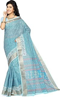 RANI SAAHIBA Cotton with Blouse Piece Saree