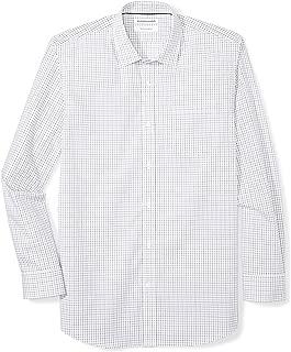 Men's Regular-Fit Wrinkle-Resistant Long-Sleeve Plaid Dress Shirt