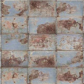 Bilderwelten Papier peint intissé - Shabby Industrial Metal Optics - Mural Carré papier peint photo intissé tableau mural photo 3D mural, Dimension HxL: 192cm x 192cm