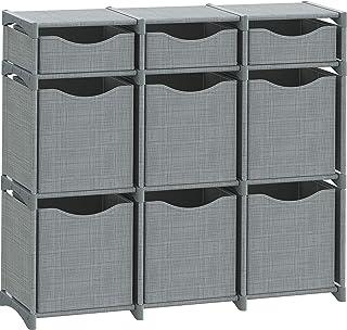 Best 9 Cube Organizer | Set of Storage Cubes Included | DIY Closet Organizer Bins | Cube Organizers and Storage Shelves Unit | Closet Organizer for Bedroom, Playroom, Livingroom, Office, Dorm (Grey) Review