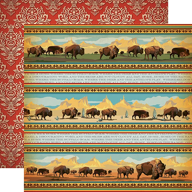 Echo Park Paper Home On The Range Cowboy Country Double-Sided Cardstock 12