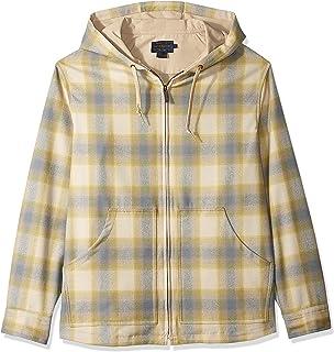Pendleton Men's Long Sleeve Zip Up Wool Hoody Button Down Shirt