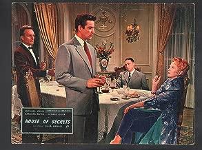 MOVIE POSTER: House of Secrets Lobby Card-1956-Michael Craig