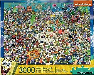 أكواريوس سبونج بوب سكوير بانتس، 3000 قطعة لغز، 68508، متعدد الألوان