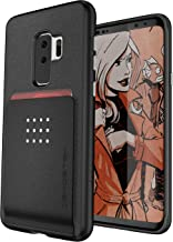 Ghostek Exec Wallet Case Credit Card ID Slot Compatible with Galaxy S9 Plus - Black