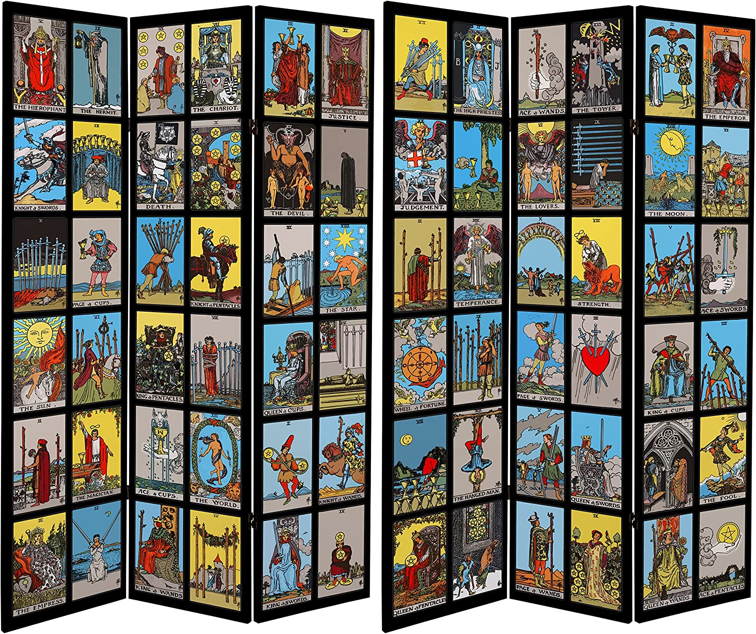 ORIENTAL Choice Furniture Tall Double Sided Tarot Room Canvas Animer and price revision Divider