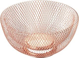 NIFTY 7510COP Double Wall Mesh Copper Decorative and Fruit Bowl, 3.5 quart/10,