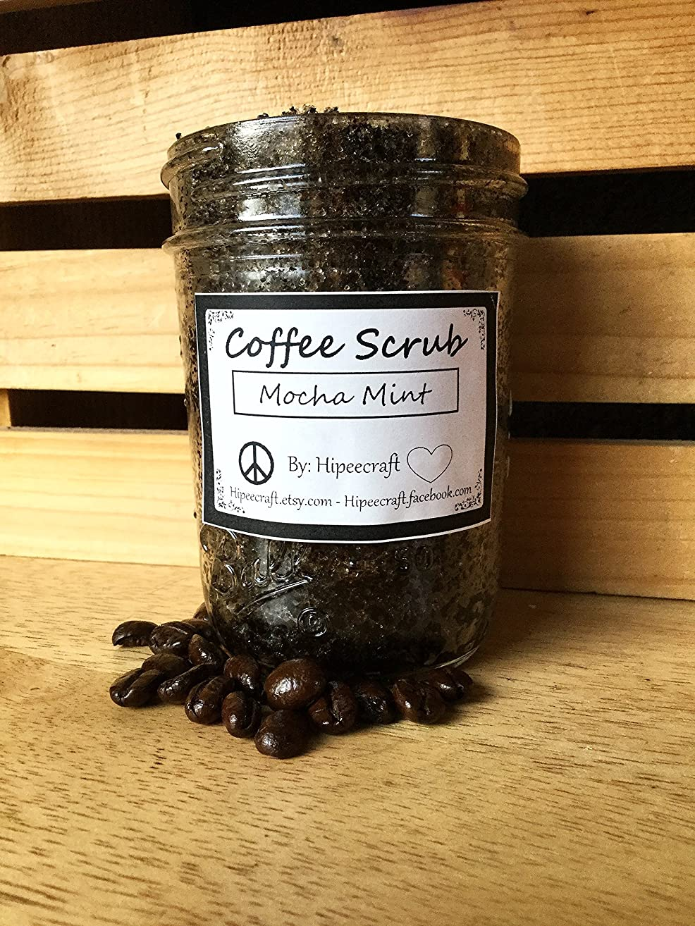 Organic Coffee Scrub Mocha Mint Coffee Scrub