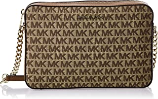 Michael Kors Womens Large Ew Crossbody Handbag, Bg/Ebony - 32T9LF5C7J