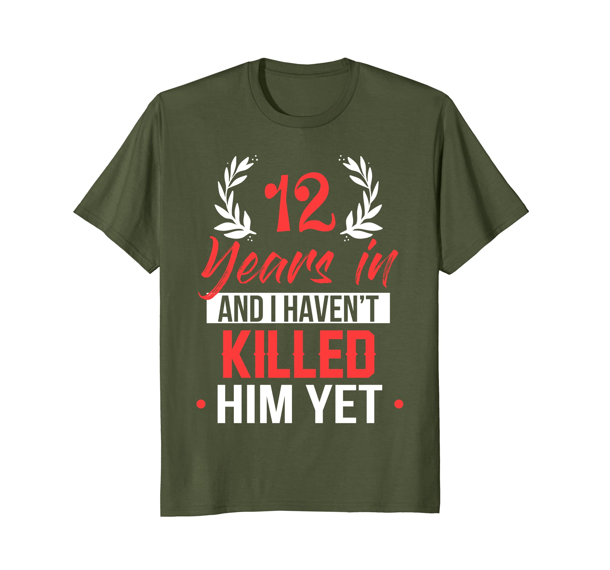 Amazoncom 12 Years In Shirt 12th Year Anniversary Gift Idea For