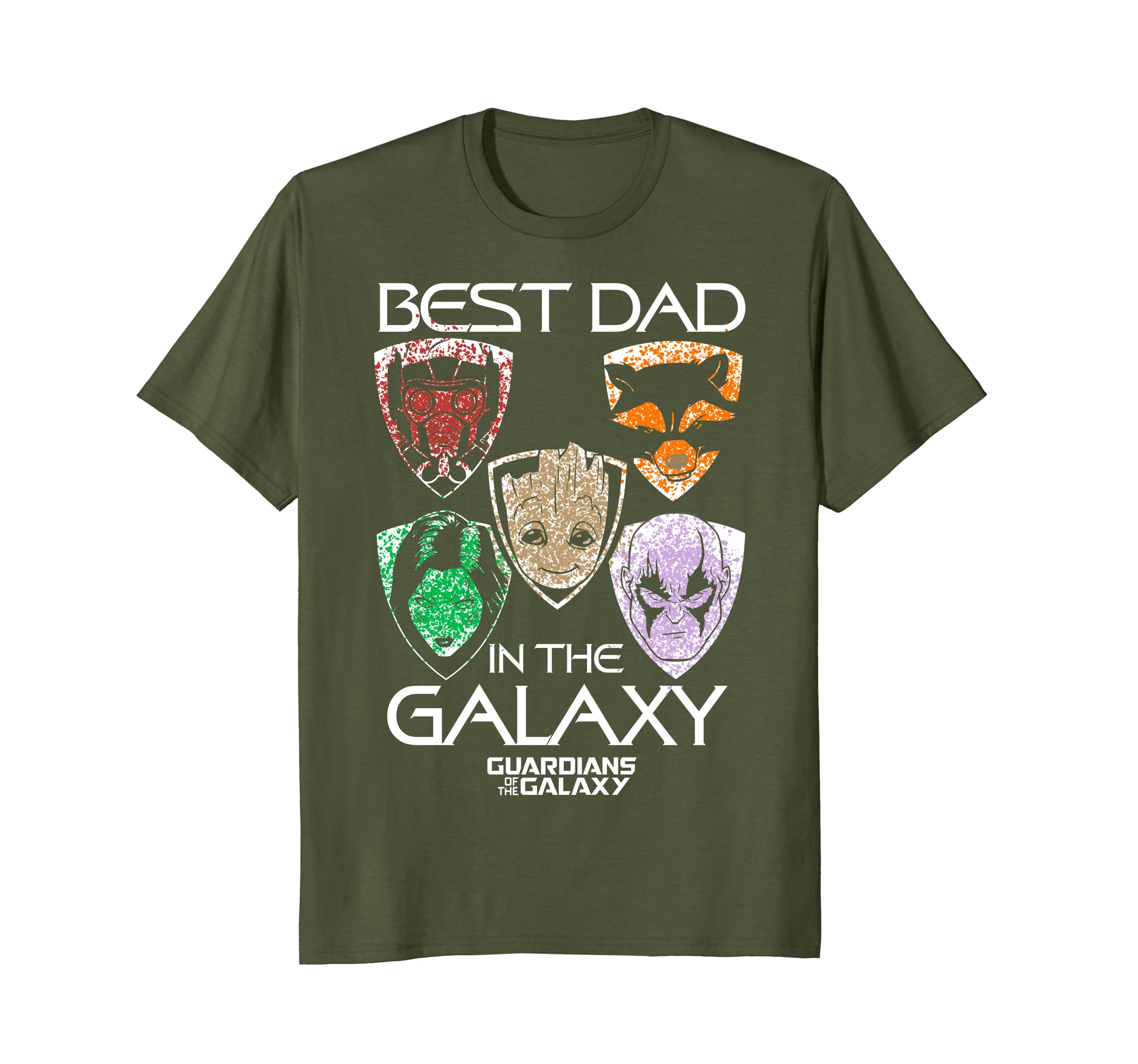 14b28ec0 Amazon.com: Marvel Guardians Best Dad Father's Day Graphic T-Shirt: Clothing
