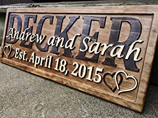 hand carved name signs