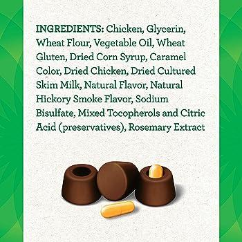 Greenies Pill Pockets Natural Dog Treats, Capsule Size, Hickory Smoke Flavor