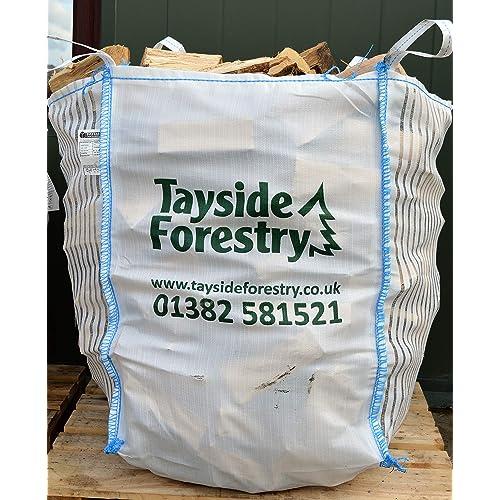 Bulk Bag of Premium Seasoned Kiln Dried Hardwood Logs 0.8m3 for Open Fires, Stoves, Log Burners, Chimineas, Fire pits