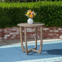 Christopher Knight Home 305135 Andria Outdoor Acacia Wood Bistro Table, Gray, Finish