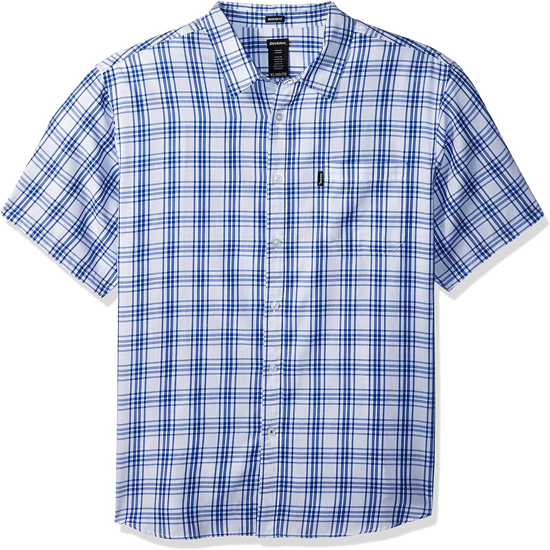 Dickies Men's Modern Fit Yarn Dyed Plaid Short Sleeve Shirt