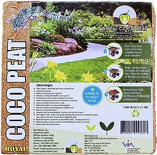 Royal Coco Peat Premium Organic Coconut Coir Peat Moss Soil Conditioner/Substitute (5 KG Coco Block)