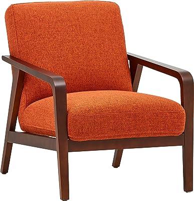Amazon Com Pulaski Ds D030003 329 Wood Frame Faux Leather Accent Chair 25 38 X 28 0 X 30 5 Cognac Brown Furniture Decor
