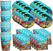 Ocean Sea Life Birthday Party Supplies Set Plates Napkins Cups Tableware Kit for 16