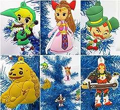 Christmas Tree Ornaments ZELDA Set Featuring Link and Friends - Unique Shatterproof Plastic Design