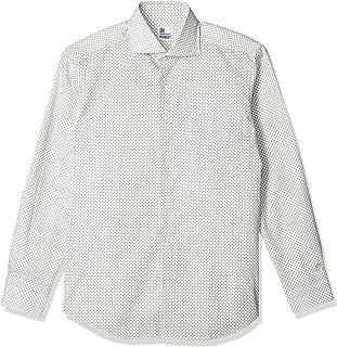 [ワセダヤシャツ] ワイシャツ 日本製 早稲田屋 ドレスカジュアル 長袖シャツ ワイドカラー 綿100% レギュラーフィット メンズ