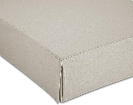 Cardenal Textil Liso Cubre Canape, Marfil, Cama 150