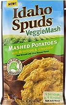 Idaho Spuds Veggie Mash, Cauliflower Butter Broccoli & Cheese Mashed Potatoes, 10 Count