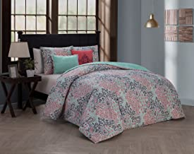 Avondale Manor Fresco 5-piece Duvet Cover Set, King, Pink
