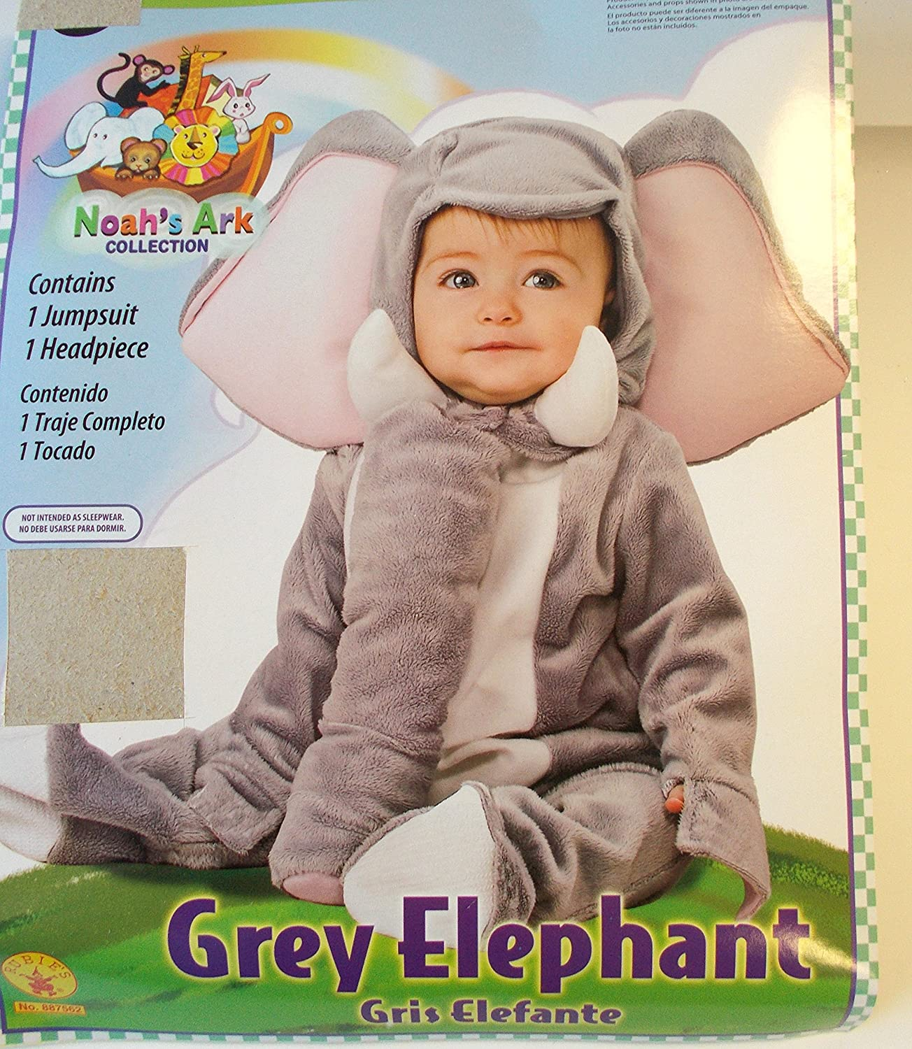 Special price for Shipping included a limited time Noah's Ark Grey Elephant 6-12M Infant NIP Costume