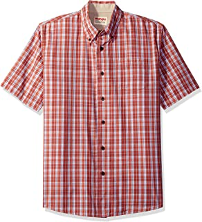 Wrangler Authentics Men's Short Sleeve Plaid Woven Shirt