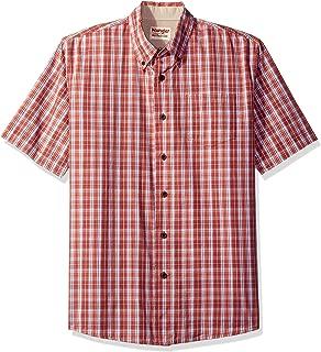 Wrangler Men's Short Sleeve Plaid Woven Shirt