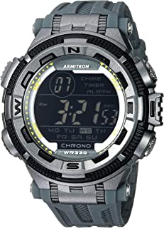 featured product Armitron Sport Men's 40/8301YGY Digital Chronograph Grey Resin Strap Watch