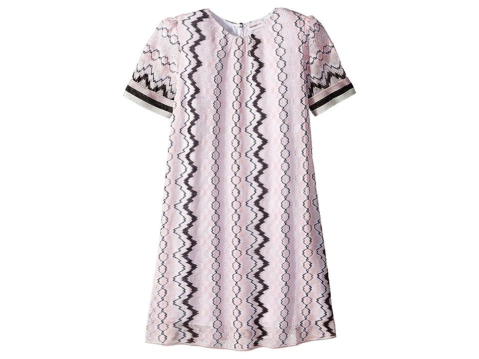 Missoni Kids Rigato Lace Dress (Big Kids) (Pink) Girl