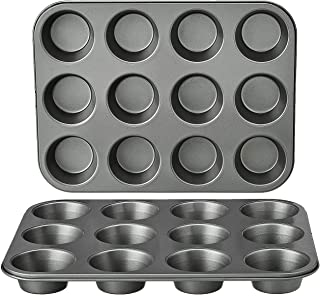 Amazon Basics Nonstick Carbon Steel Muffin Pan - 2-Pack